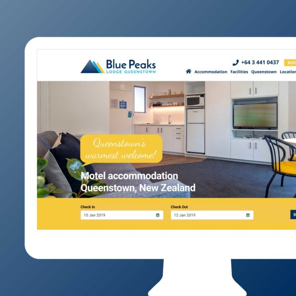 Blue Peaks Lodge & Apartments Invercargill Web Design