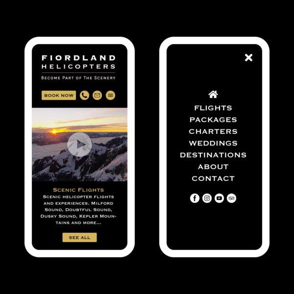 Fiordland Helicopters Scenic Flights Invercargill Web Design