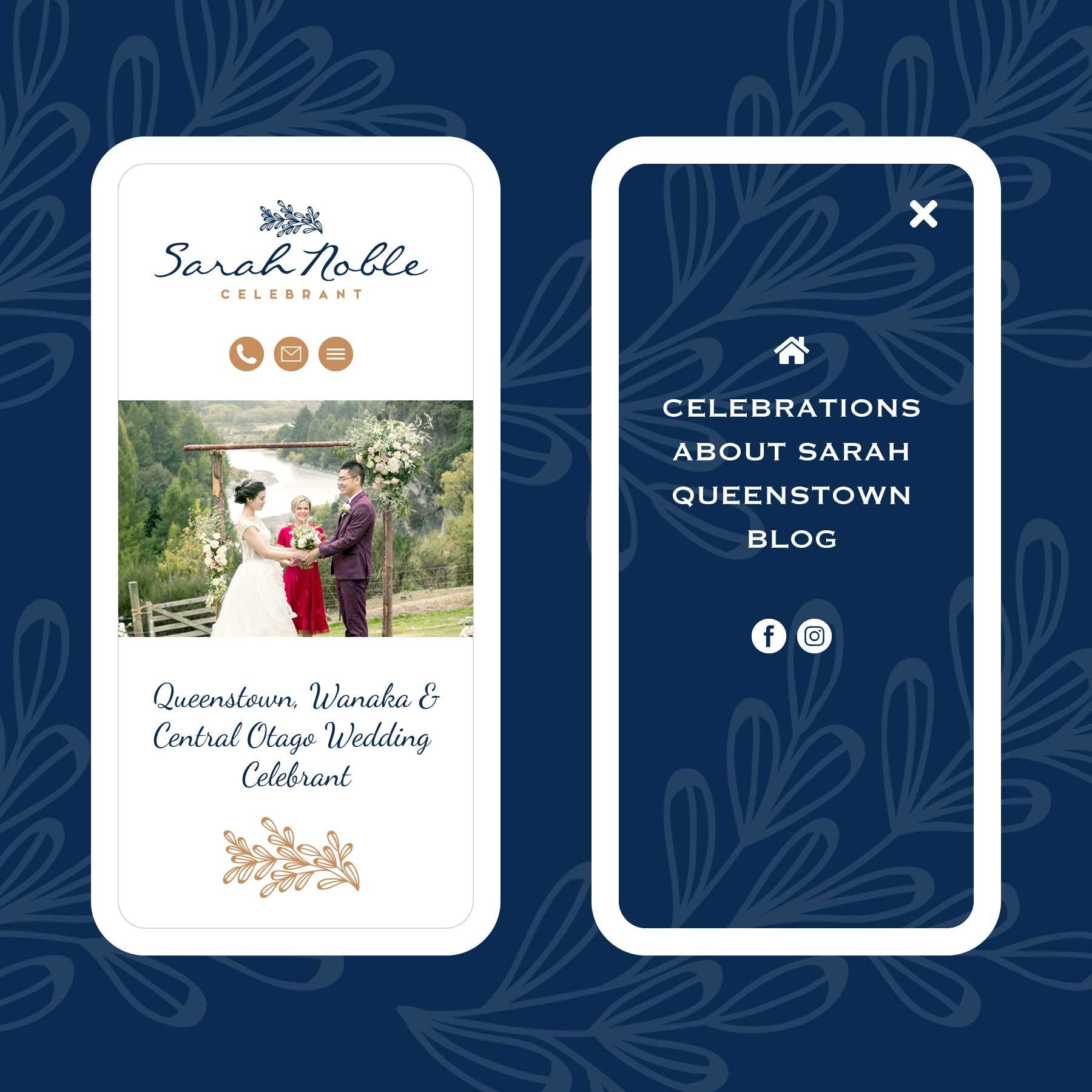 Sarah Noble Marriage Celebrant Invercargill Web Design