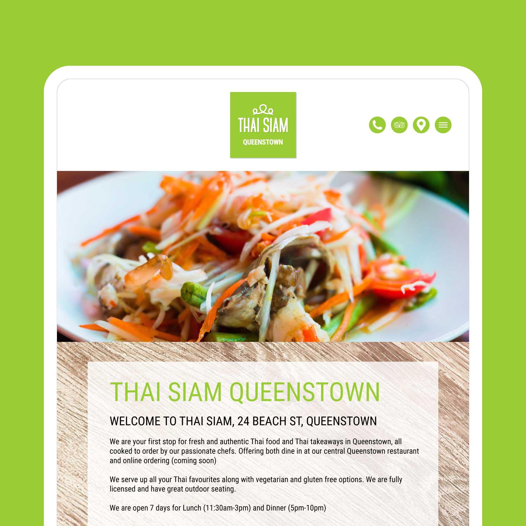 Thai Siam Invercargill Web Design