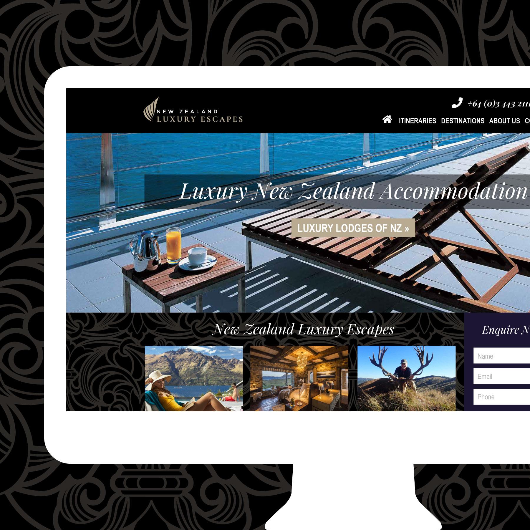 NZ Luxury Escapes Invercargill Web Design